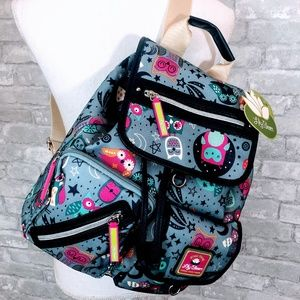 NWT - Lily Bloom Owl Backpack - Gray/Blue